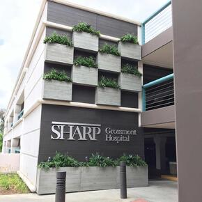 custom commercial planters-sharp-grossmont-hospital-project